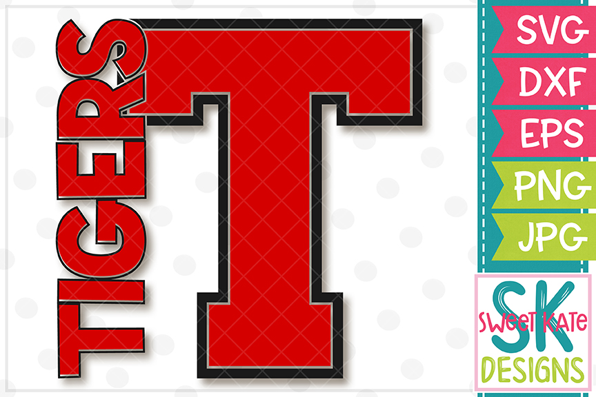 T Tigers SVG DXF EPS PNG JPG example image 2