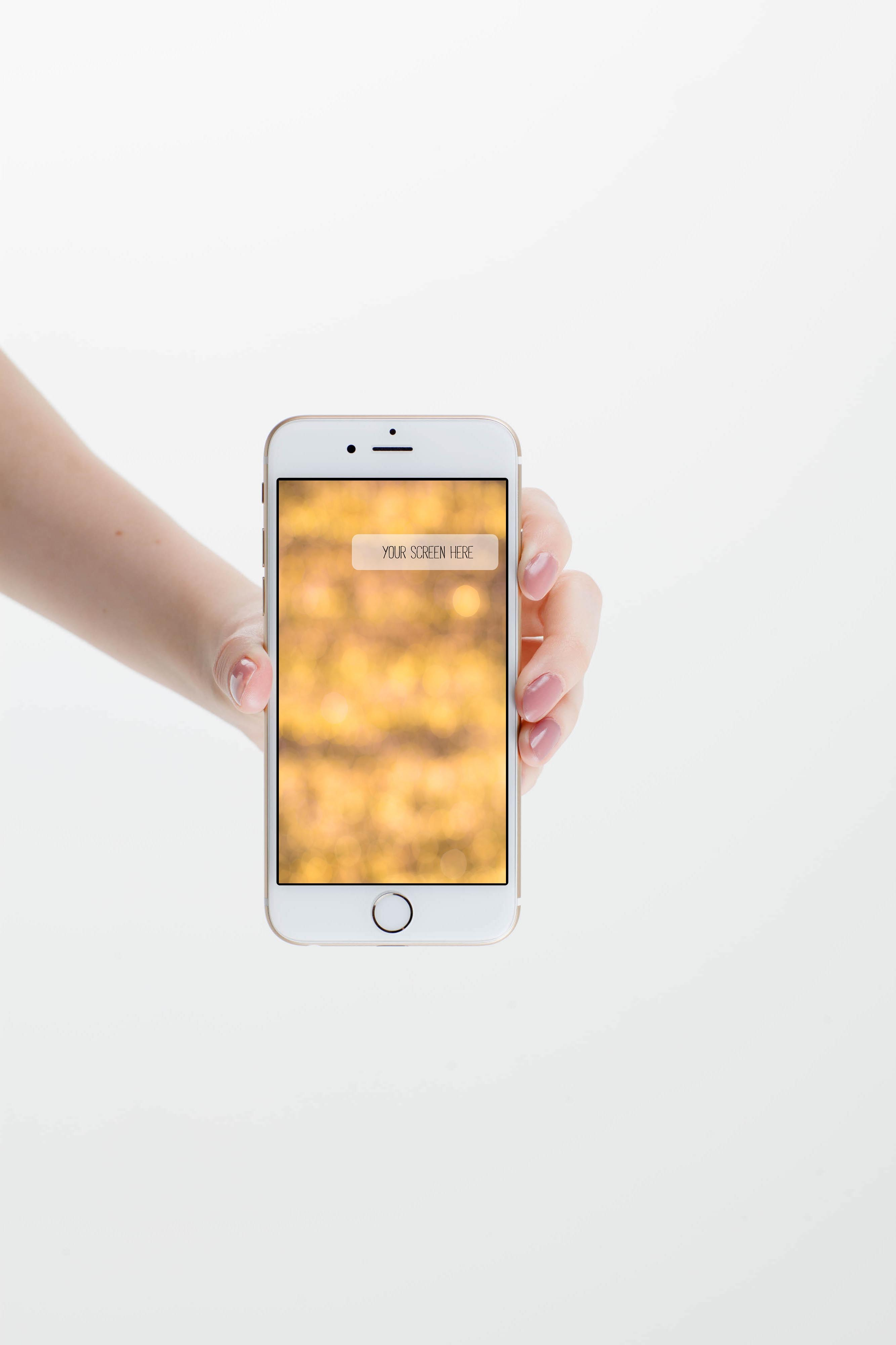 Set from 6 iPhone mockups example image 2