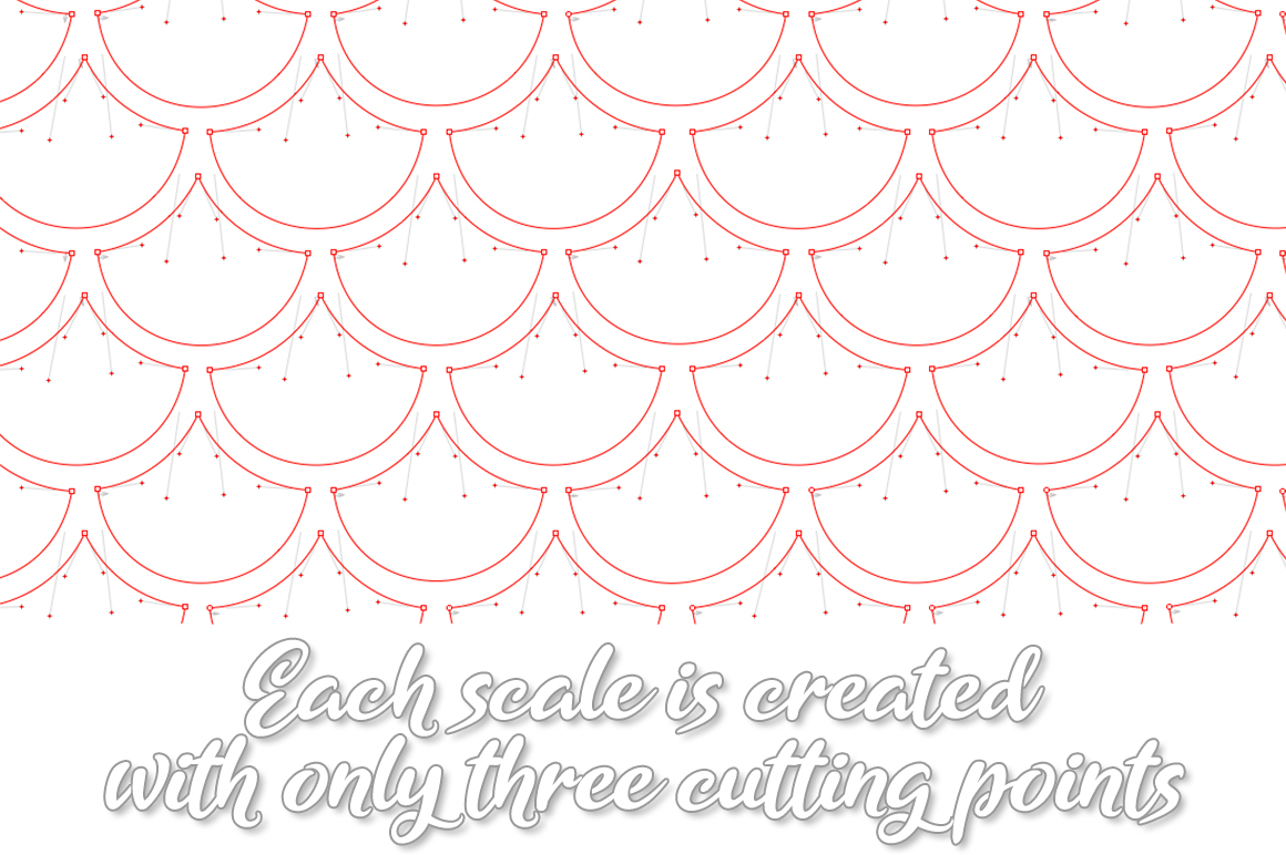 Mermaid Scales SVG | Mermaid Scales for Cameo & Cricut example image 4