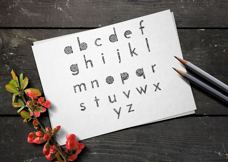 Wonderful Mandala Alphabet example image 3