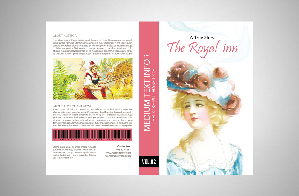 Novel Book Cover Template example image 5