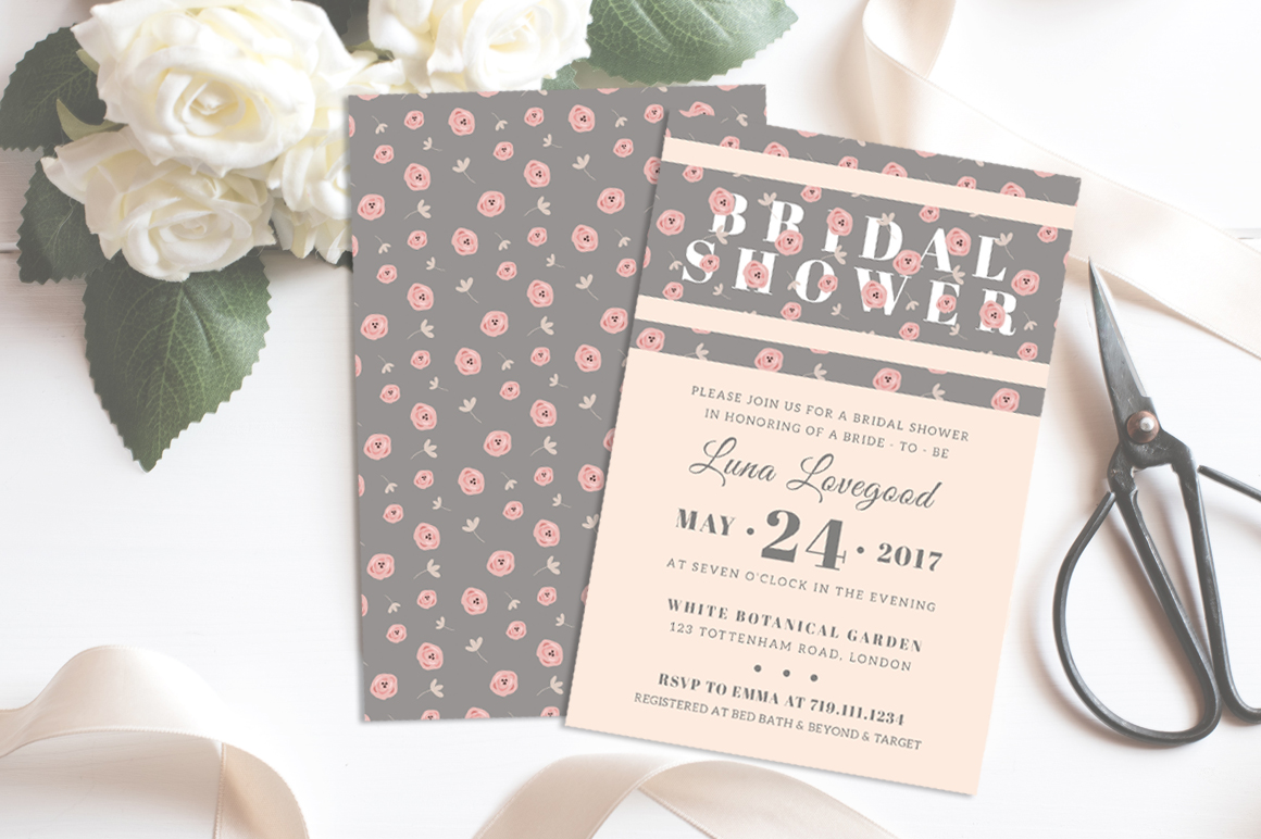 Floria - Bridal Shower Invitation example image 3