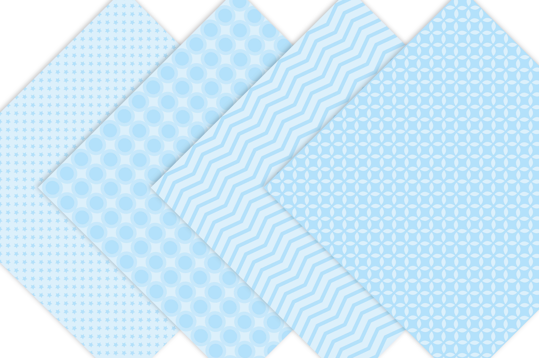 Baby Boy Pastel Blue Digital Paper example image 2