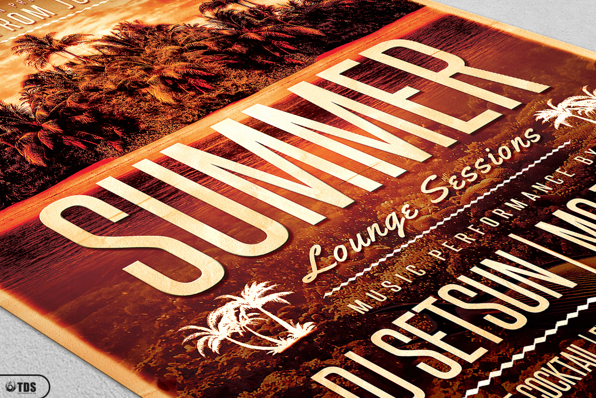 Summer Lounge Flyer Template V2 example image 5