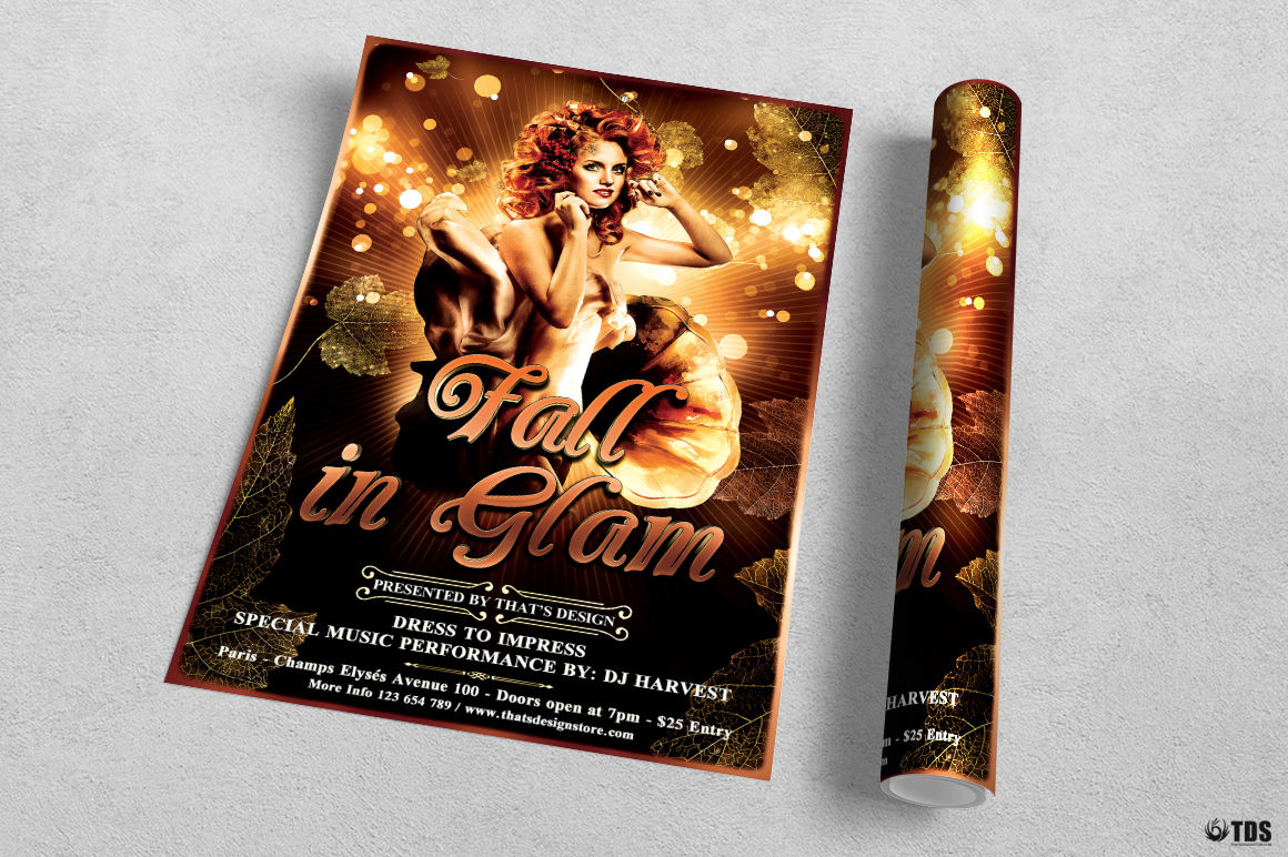 Fall in Glam Flyer Template V2 example image 3