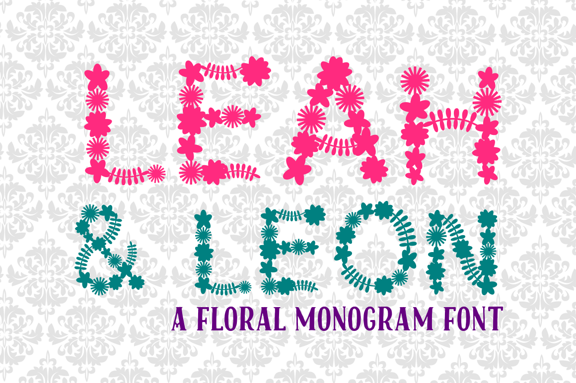 Leah & Leon (Font / SVG)  example image 2