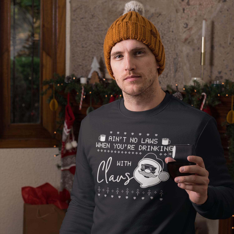 Santa Christmas Ugly Print Template, TShirt Design SVG File example image 3