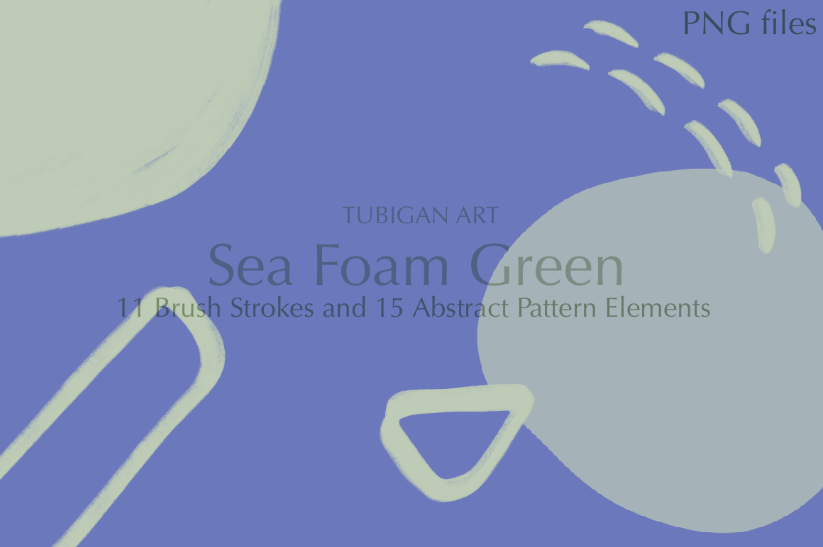 26 Sea Foam Green Brush Strokes and Abstract Pattern Element example image 5