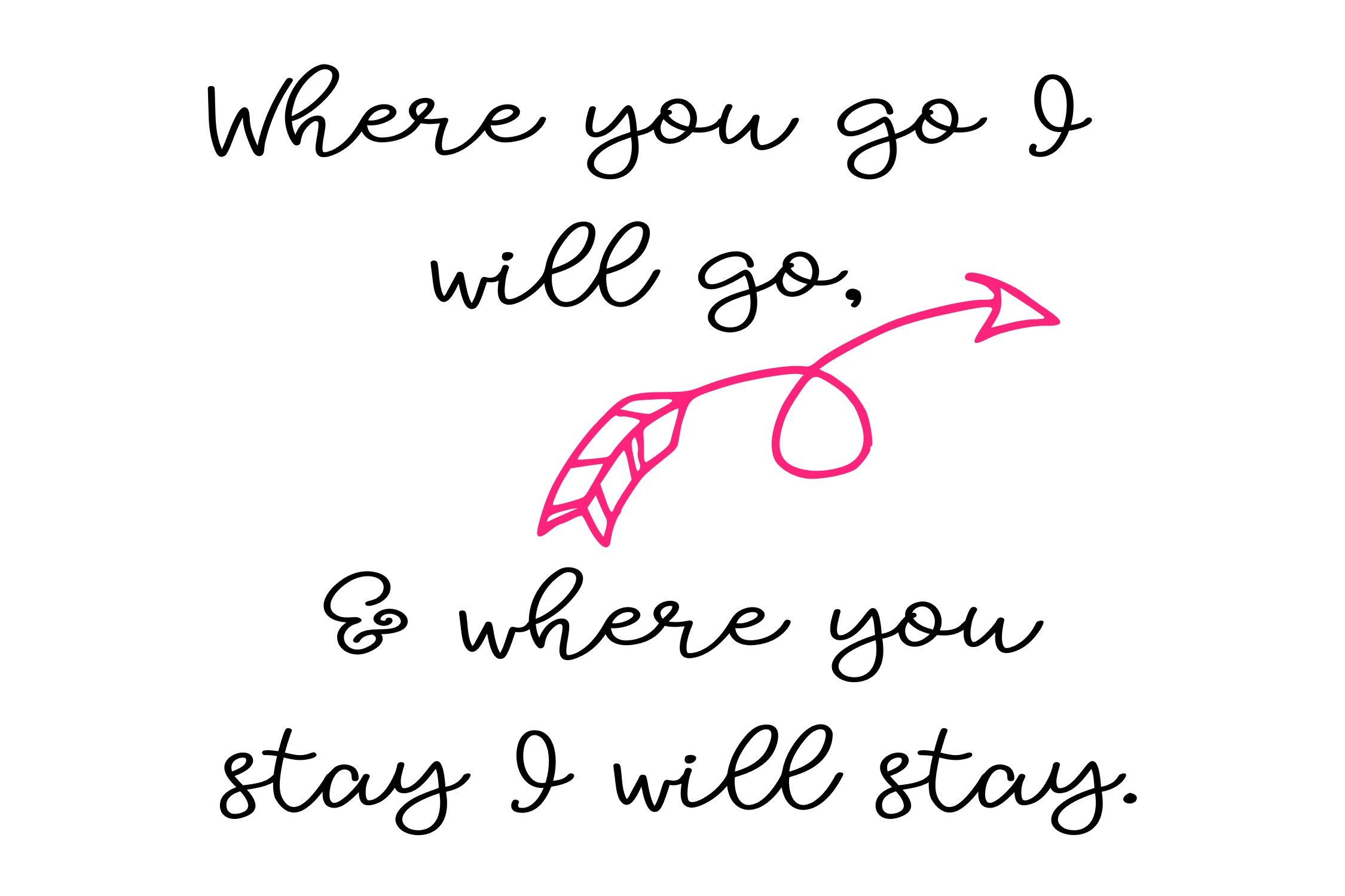Where you go I will go - Scripture - SVG PNG EPS example image 2