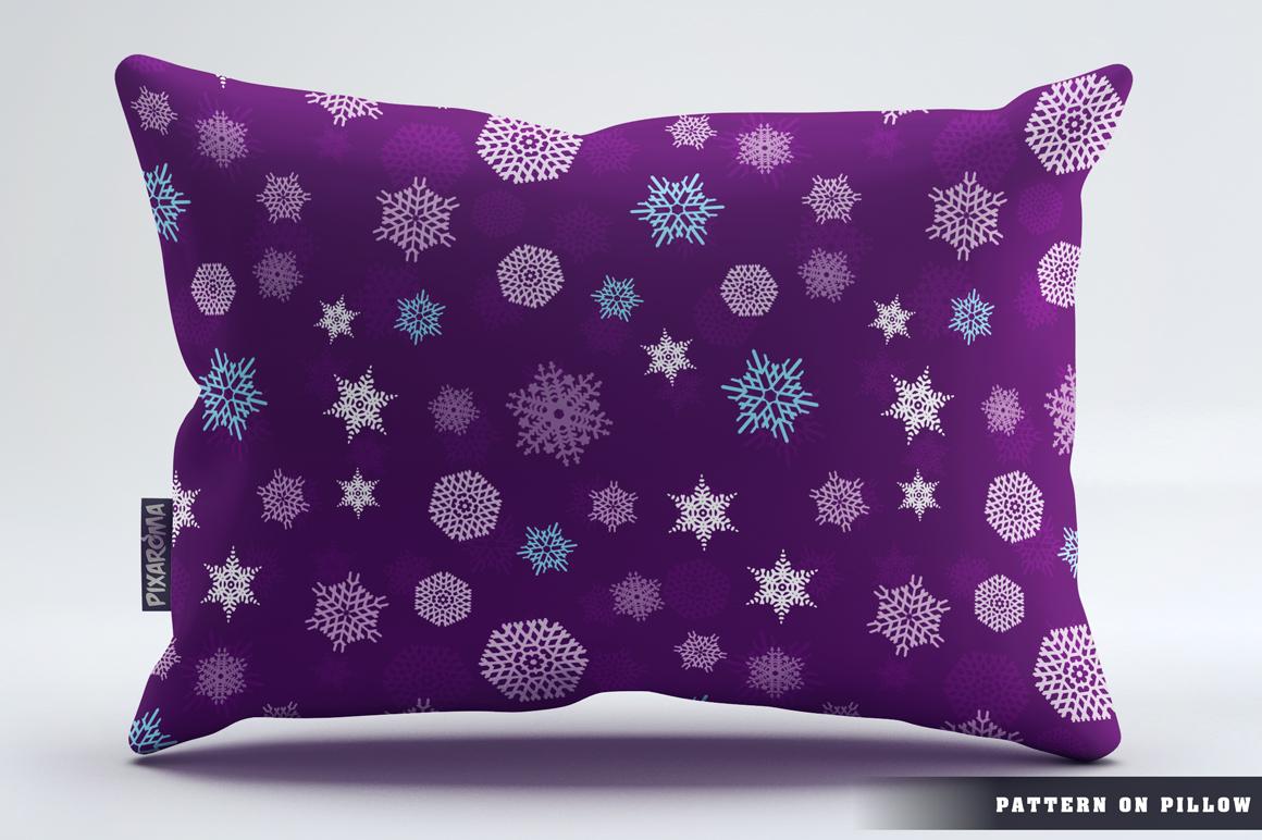 100 Snowflake Seamless Patterns example image 17