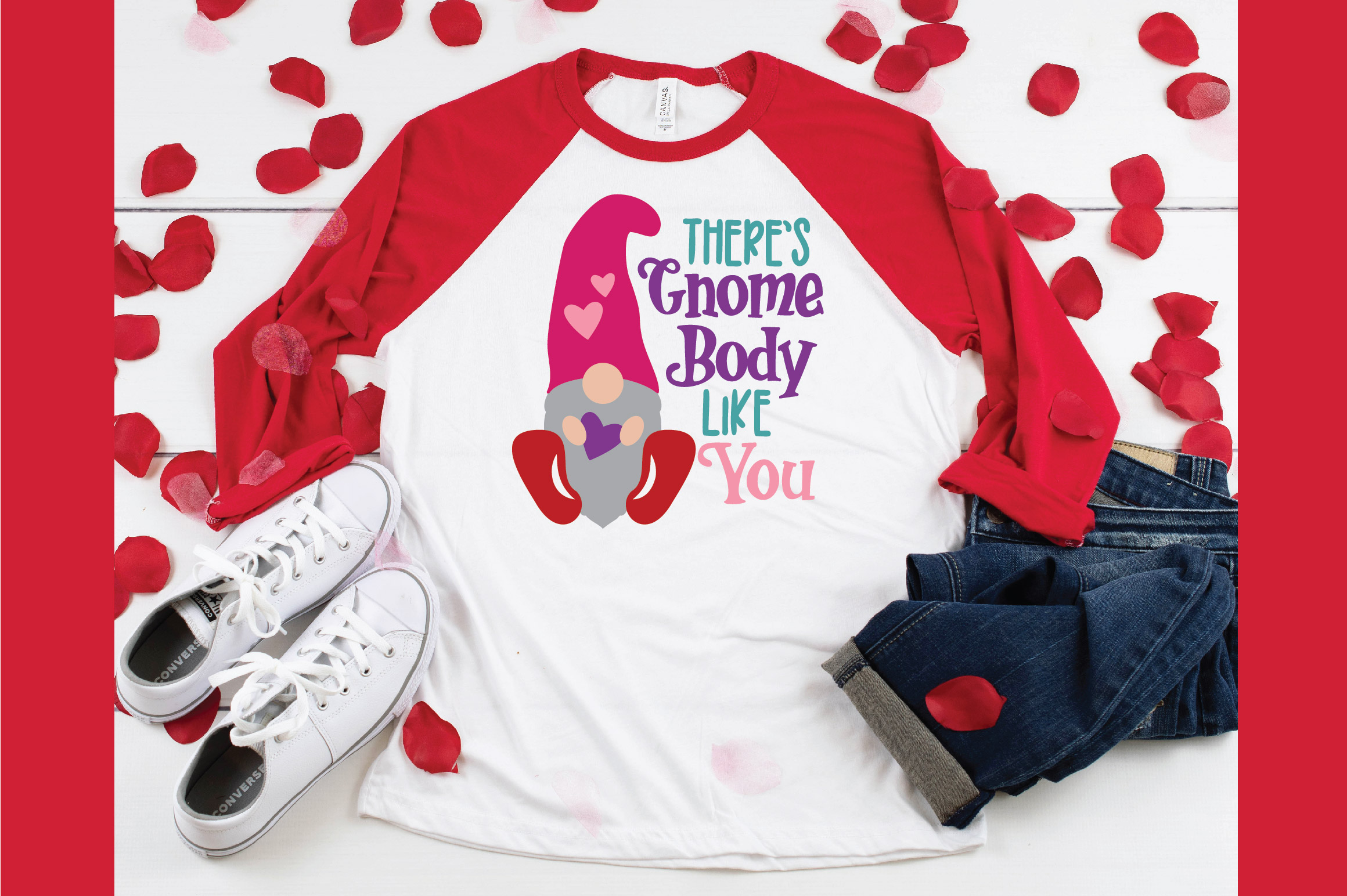 There's Gnome Body Like You SVG Cut File - Valentine SVG example image 5