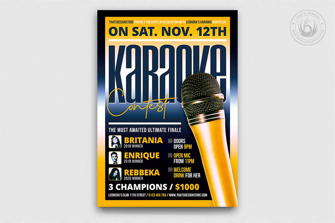 Karaoke Flyer Template V9 example image 1