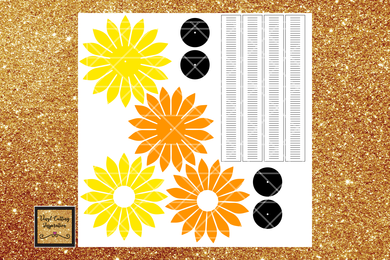 Download Paper Sunflower Template Svg Cut File Paper Flower print ...