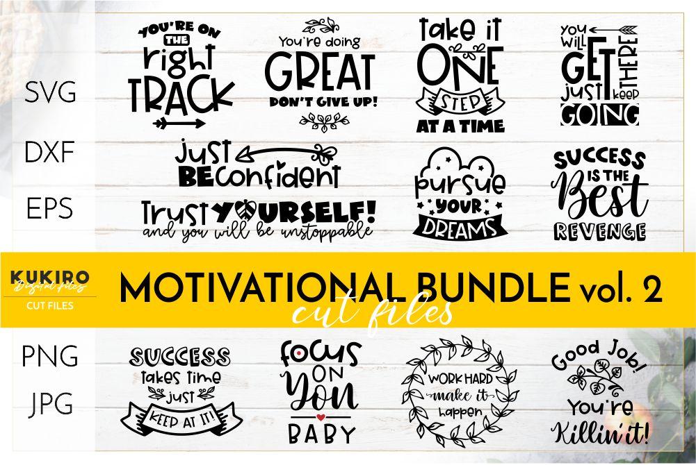 Motivational Quotes SVG BUNDLE - Work motivation cut files example image 1
