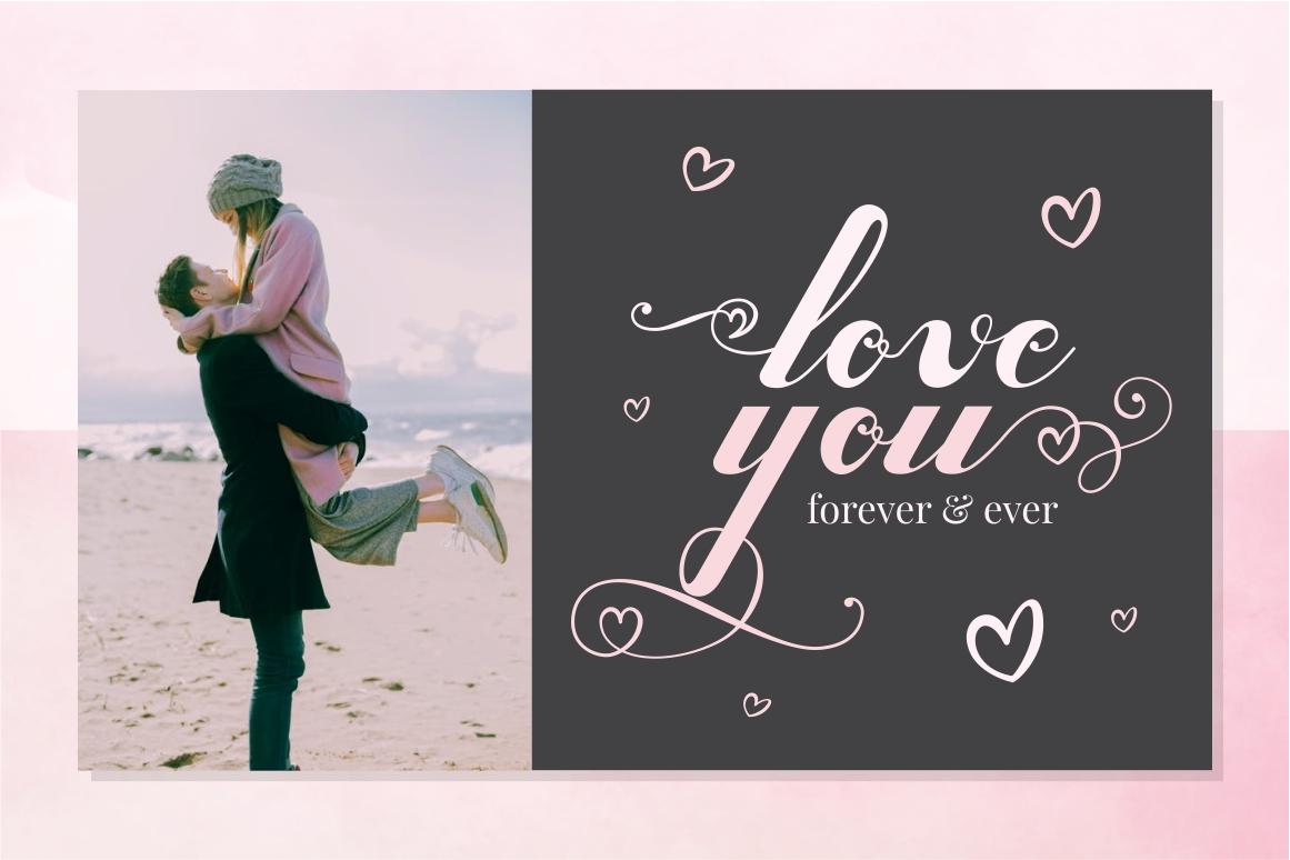 Valentijn - Romantic Font example image 2
