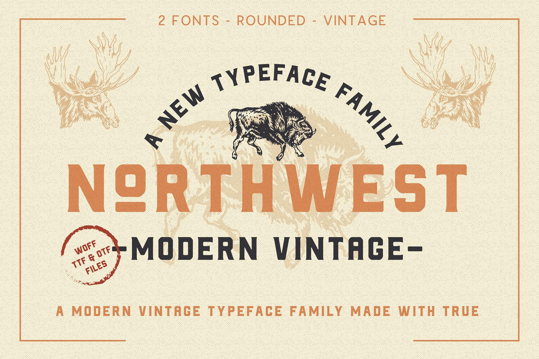 The Northwest - Modern Vintage Type Family example image 1