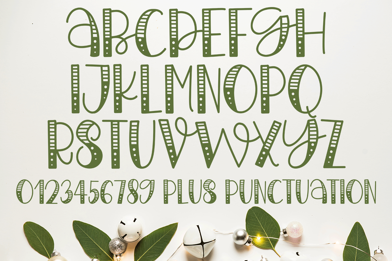 Believe In The Magic - A Christmas Handlettered Font example image 2