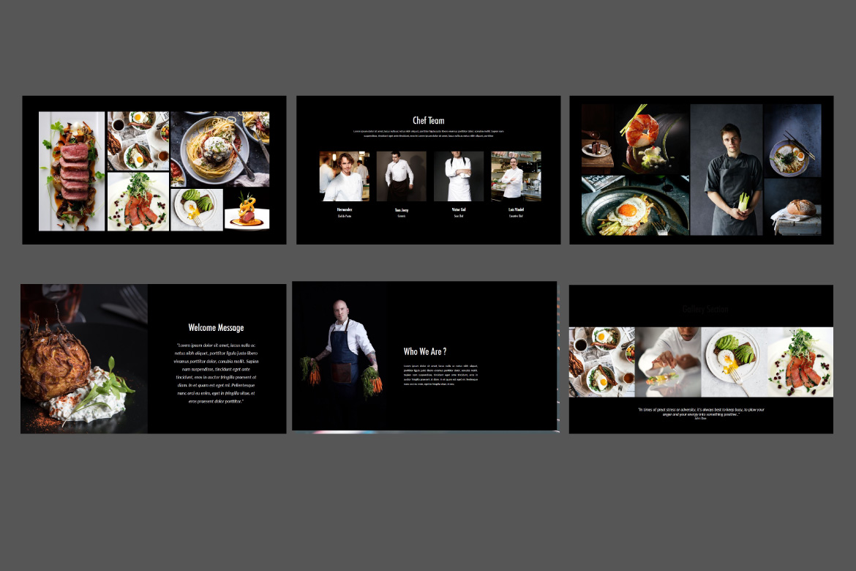 Core - Food Google Slides Dark example image 3