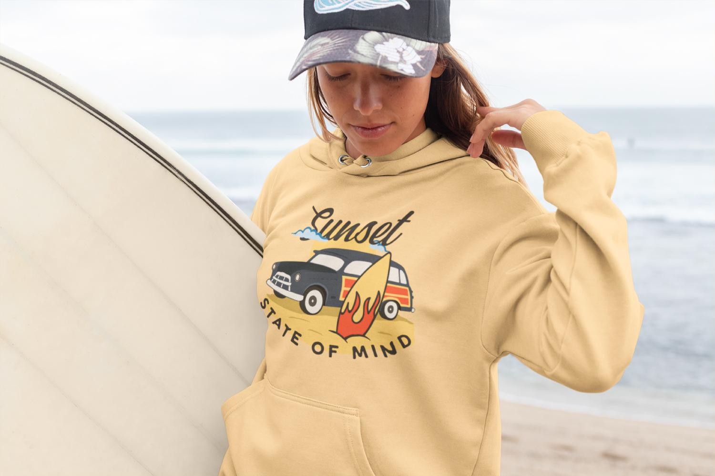 Retro Surfing Print Design, T-Shirt. Surf Car SVG File example image 3
