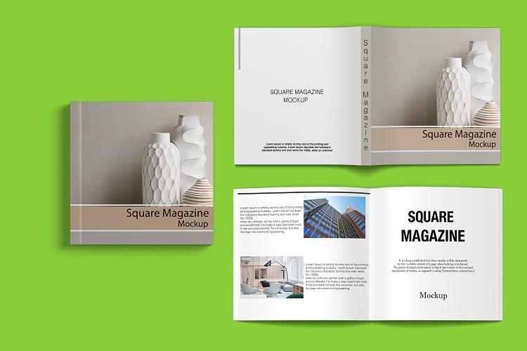 Square Magazine Mockup example image 6
