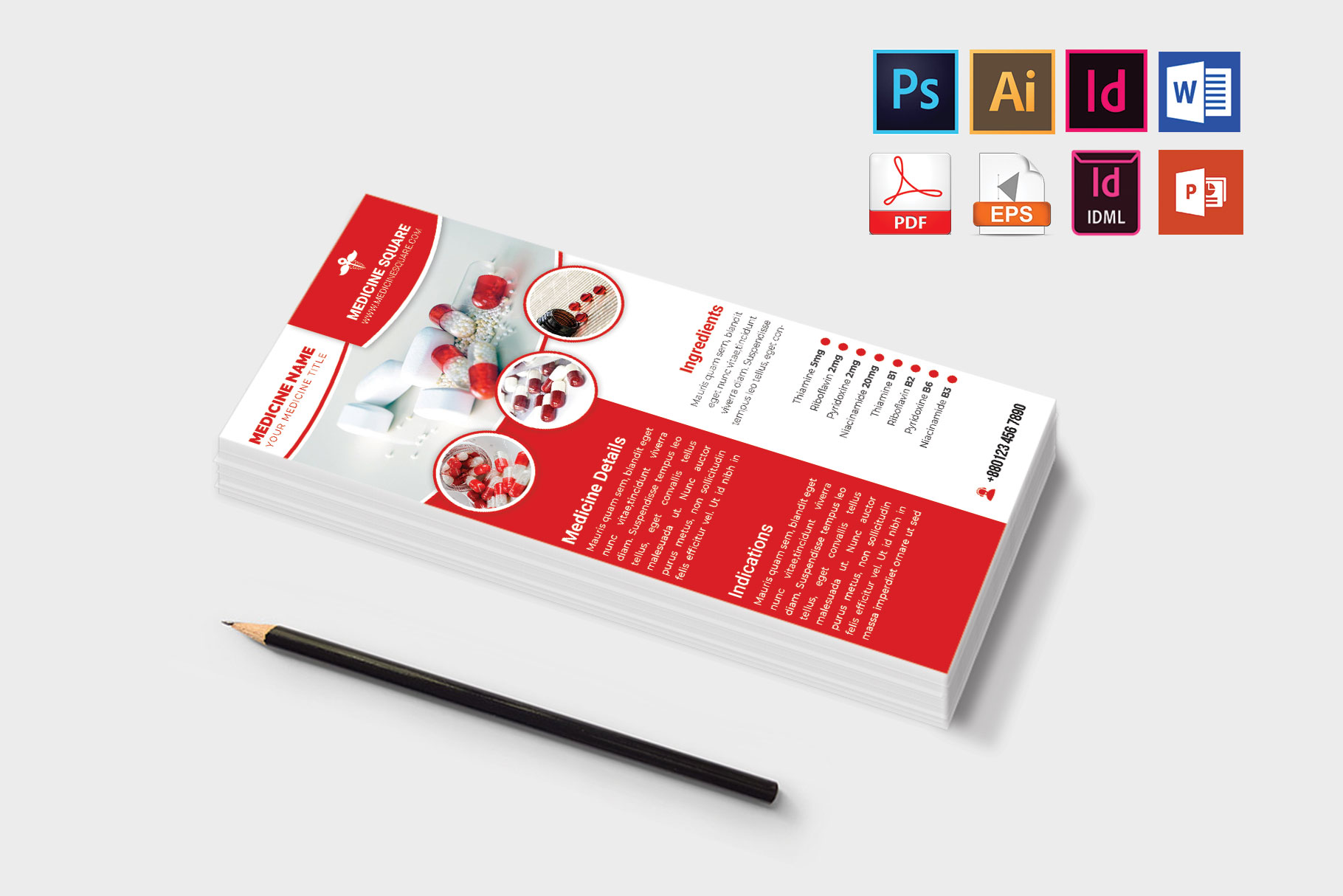 Rack Card | Medicine Promotion DL Flyer Vol-03 example image 3