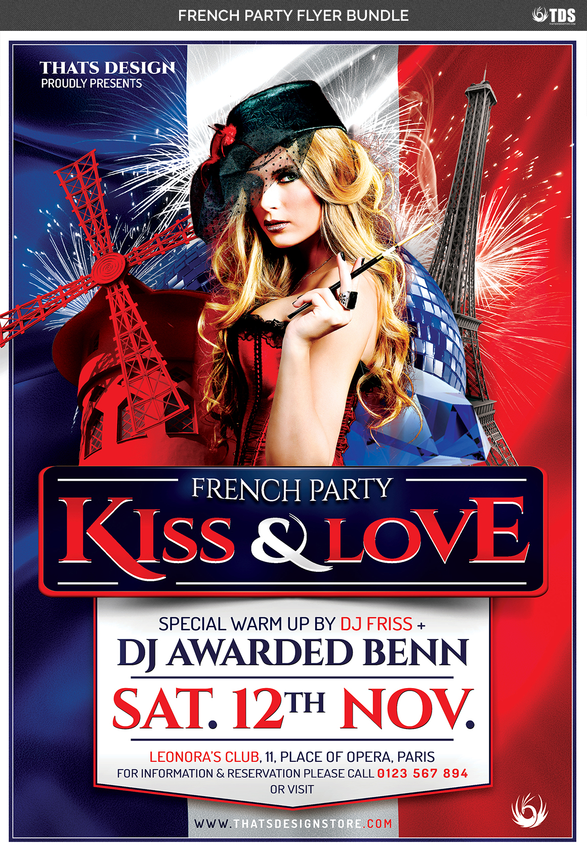 French Party Flyer Bundle example image 7