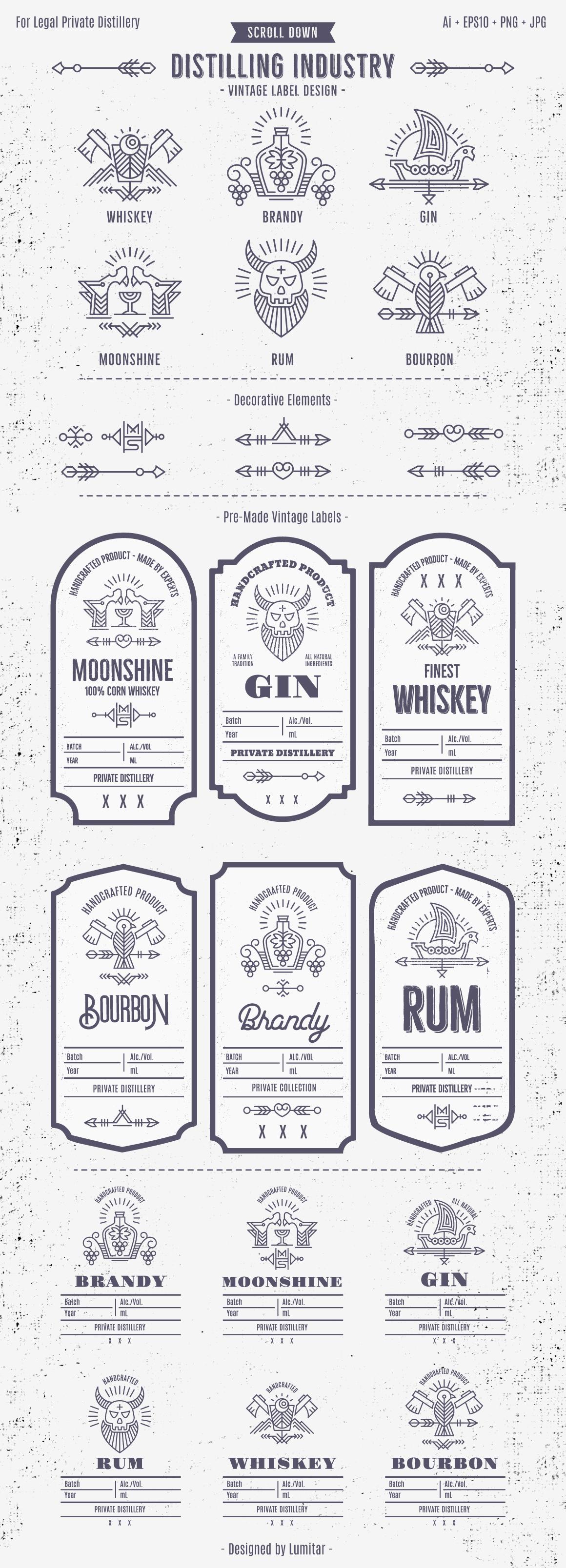 Distilling Industry: Vintage Labels example image 2