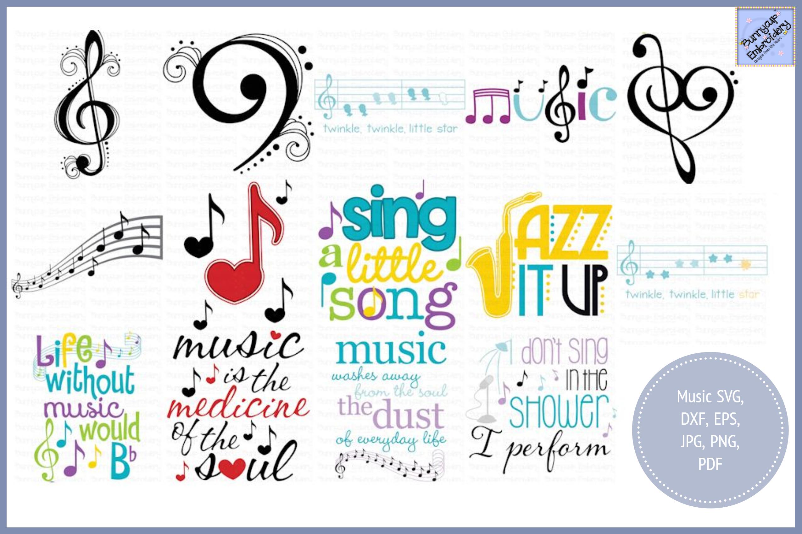 Music Bundle - SVG, Clipart, Printables example image 1