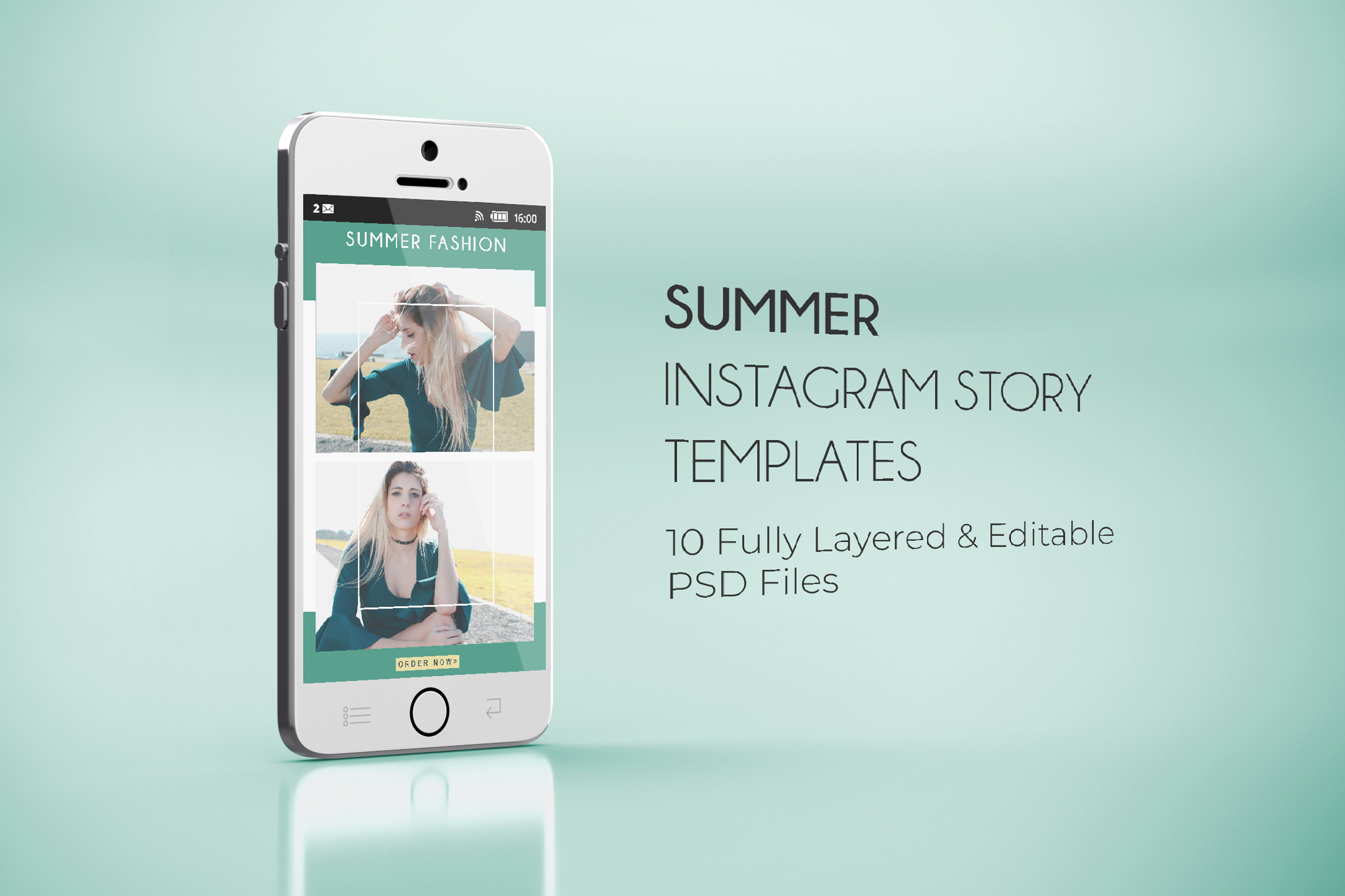 10 Summer Fashion Sales Insta-Story PSD Templates example image 6