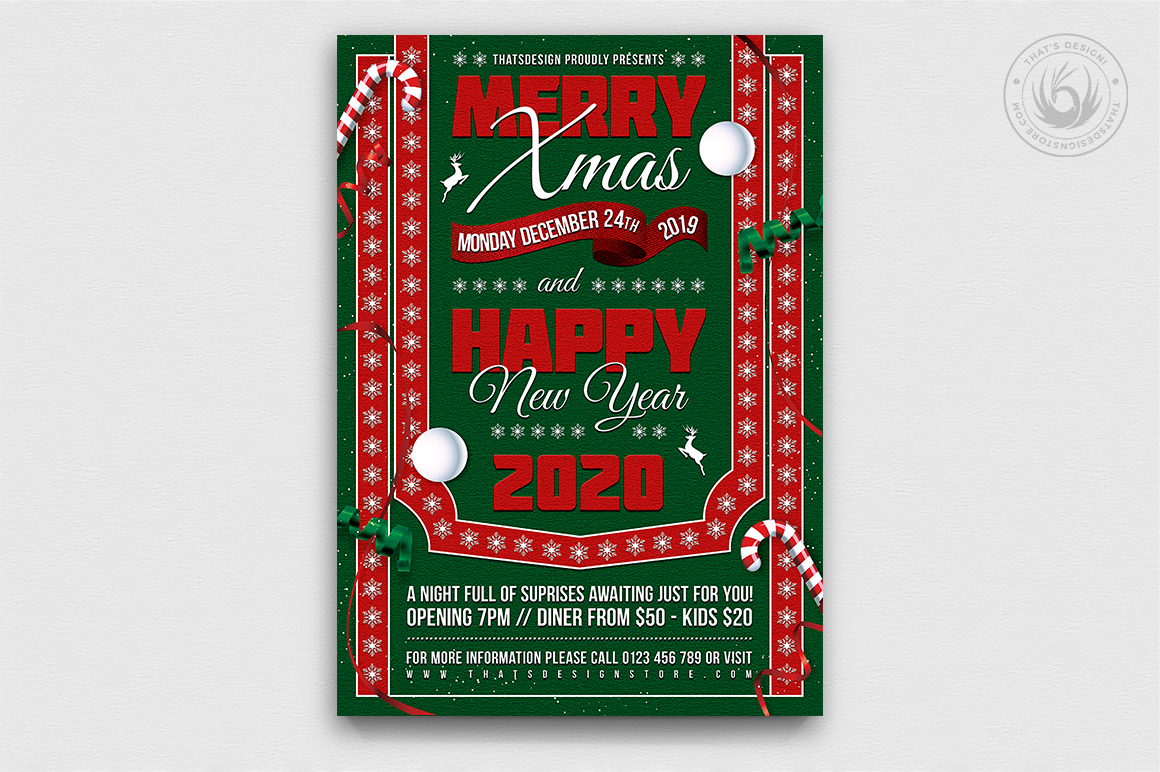 Christmas Eve Flyer Template V10 example image 1