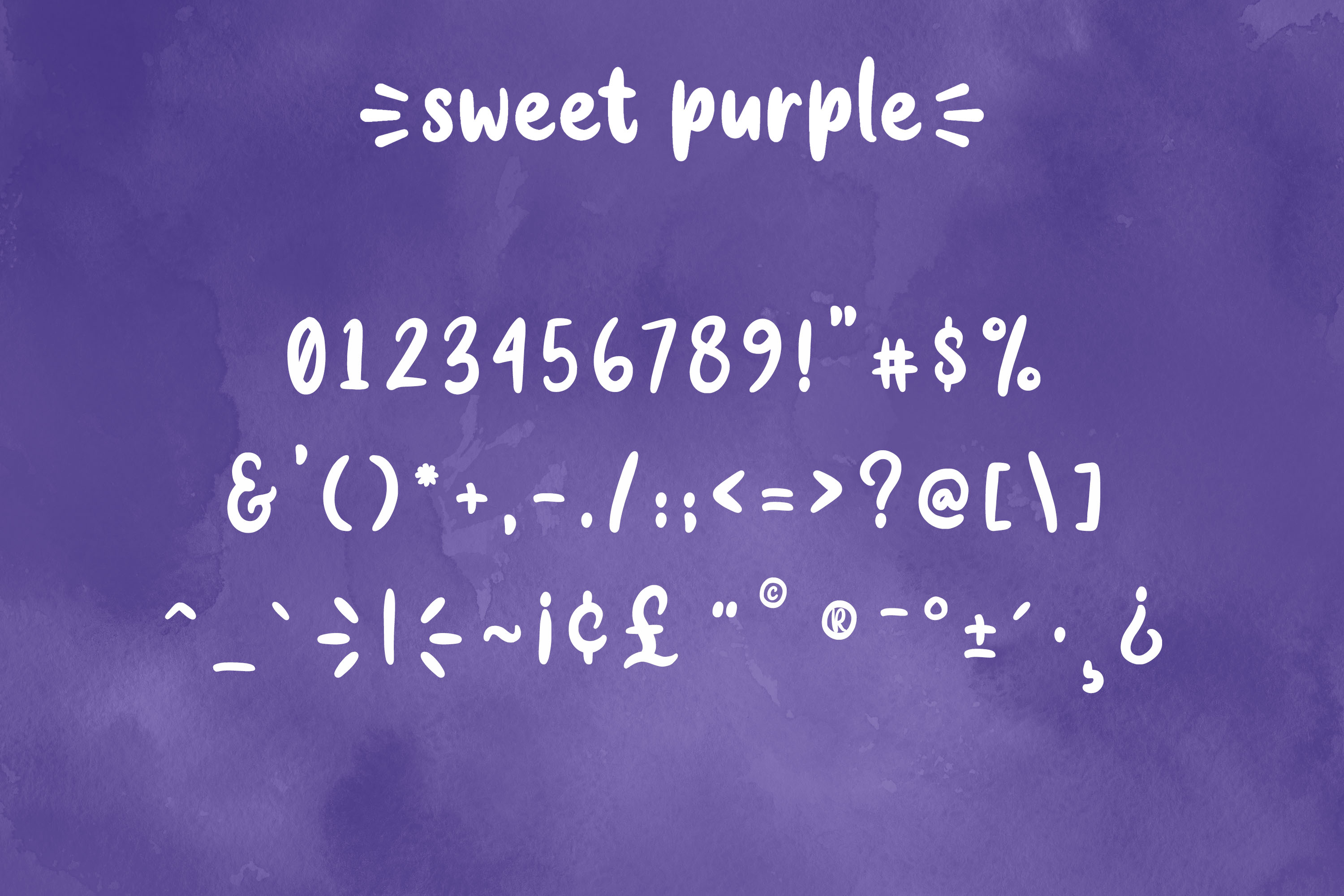 Sweet Purple - Cute & Playful Font example image 10