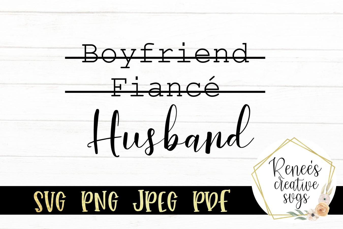 Boyfriend, Fiance, Husband|Funny Saying |SVG Cut File example image 2