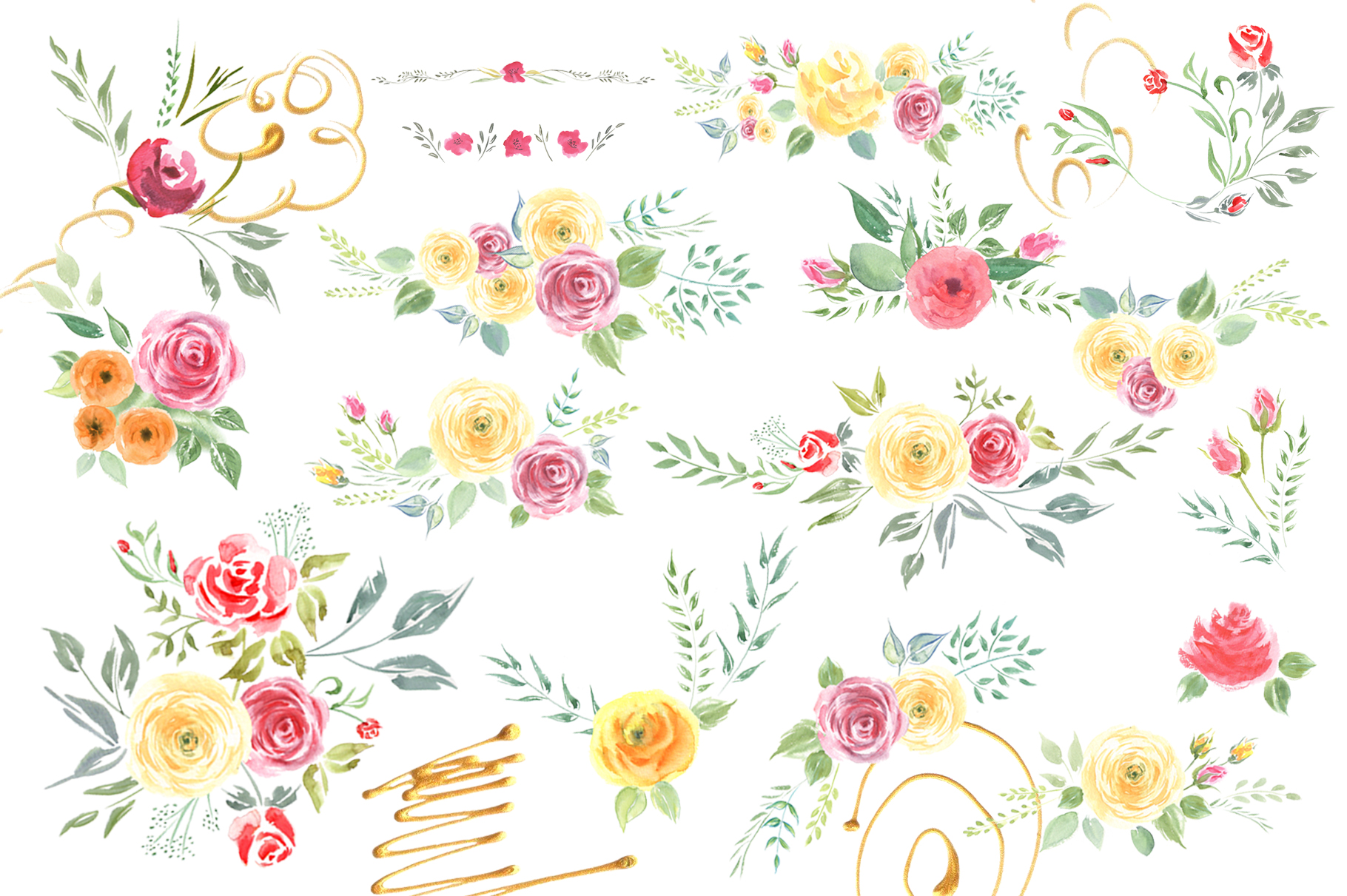 Queen of Flowers watercolor collection example image 14