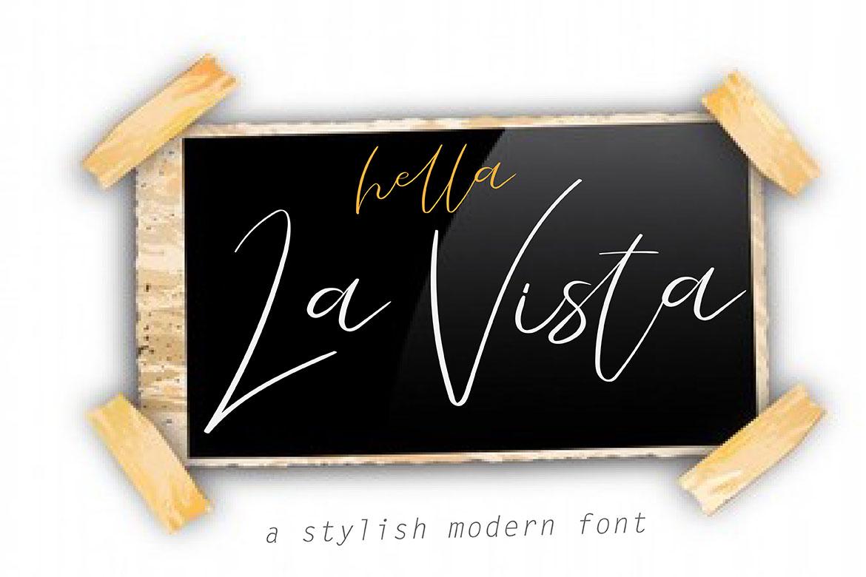 La Vista // A Stylish Modern Font example image 2