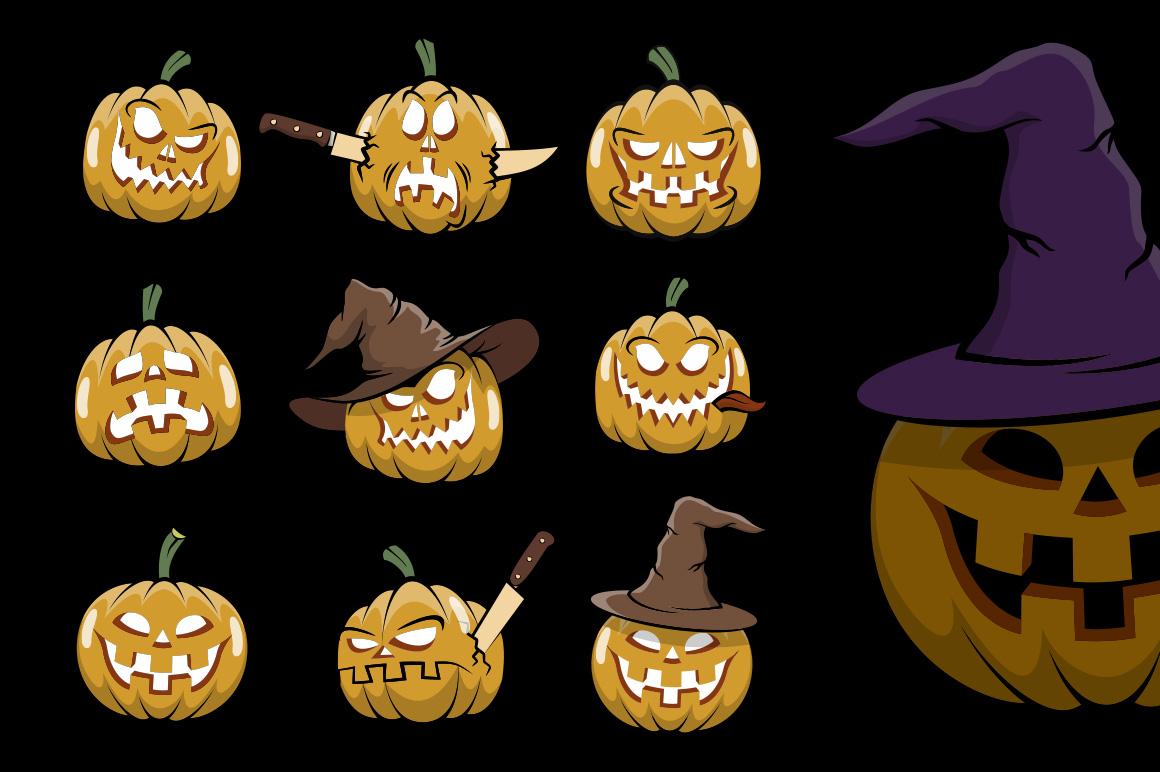 Halowen Pumpkins Pack example image 5