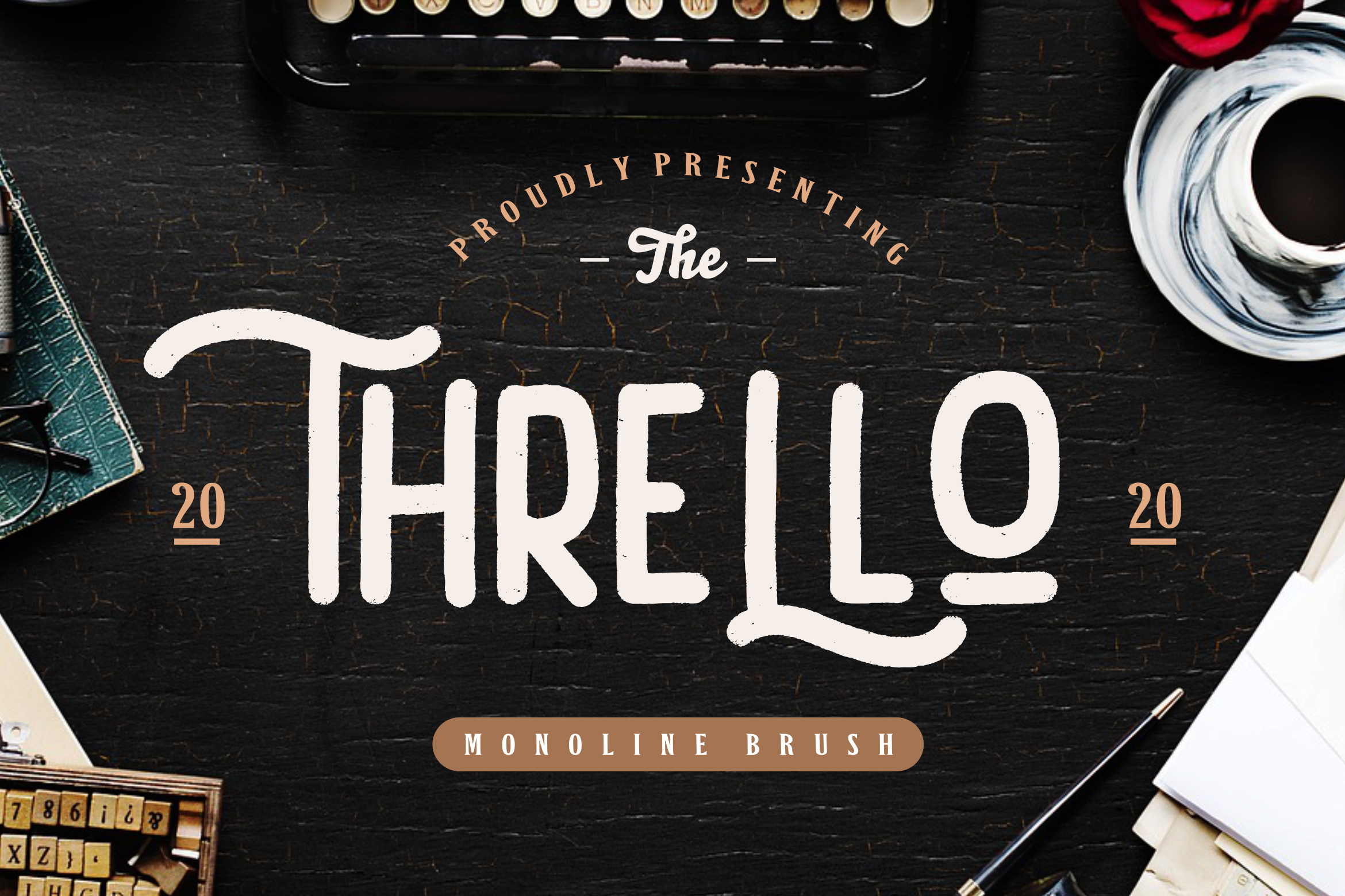 Thrello Monoline Brush example image 1