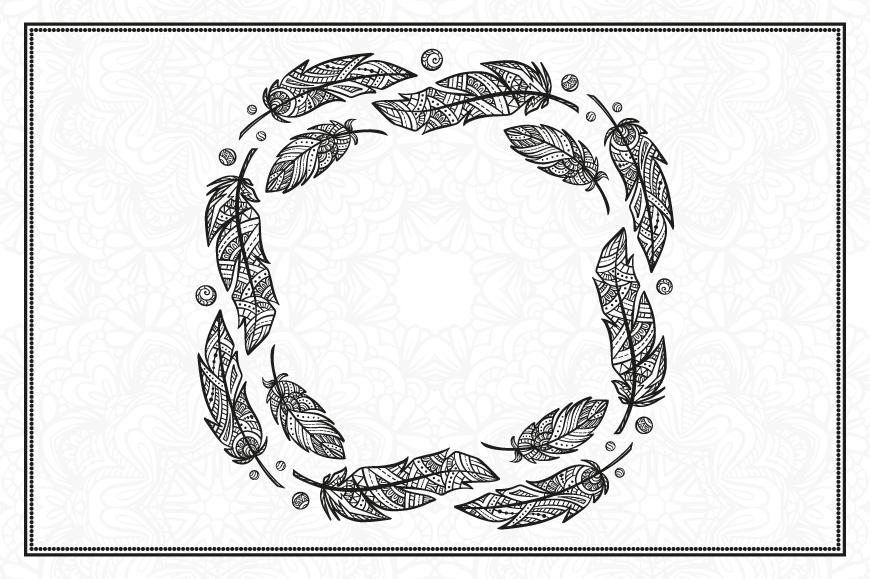 Boho feathers set example image 5