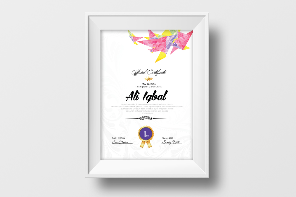 Company Certificate Template example image 2
