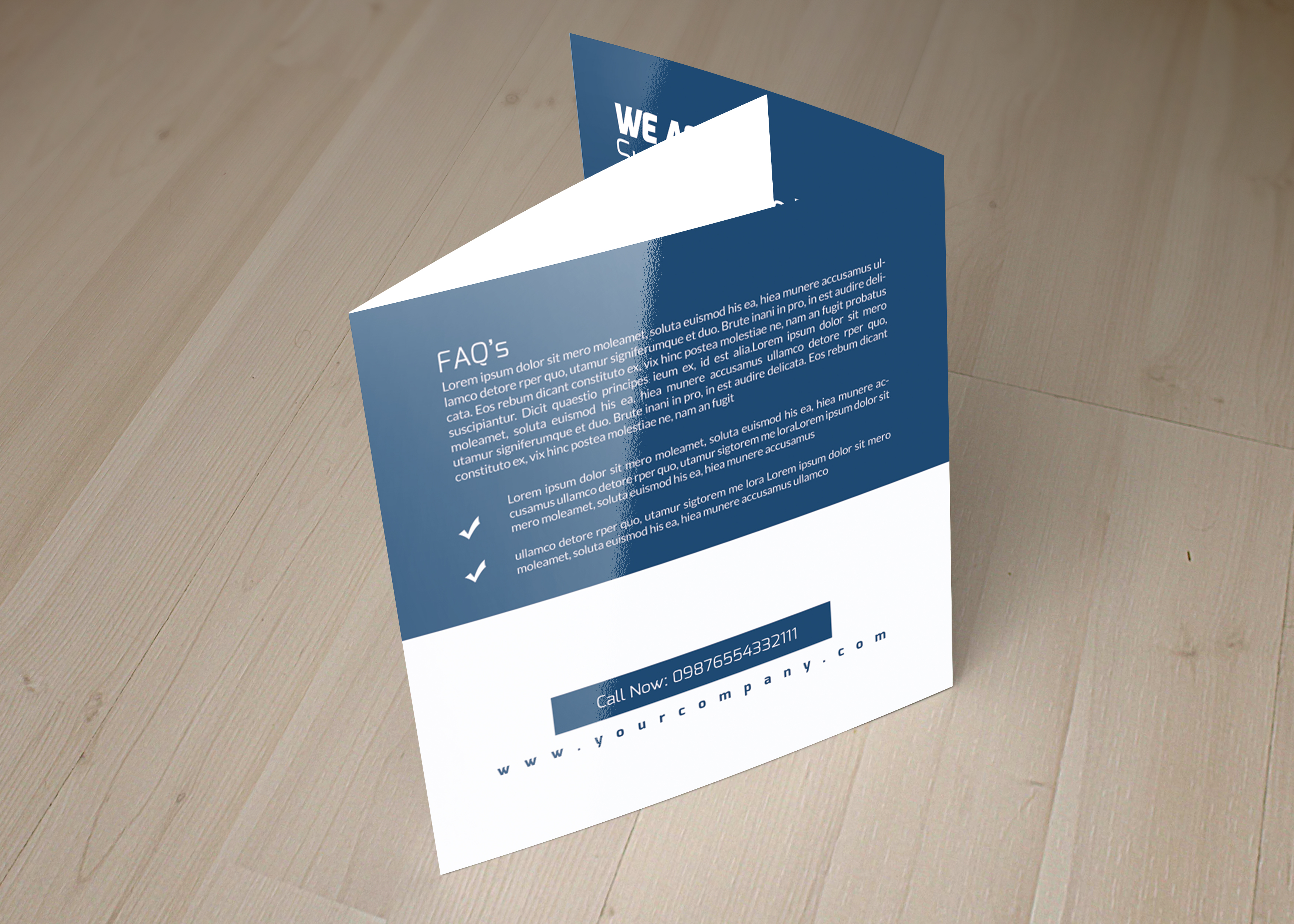 Professional Business Square Trifold Brochure example image 2