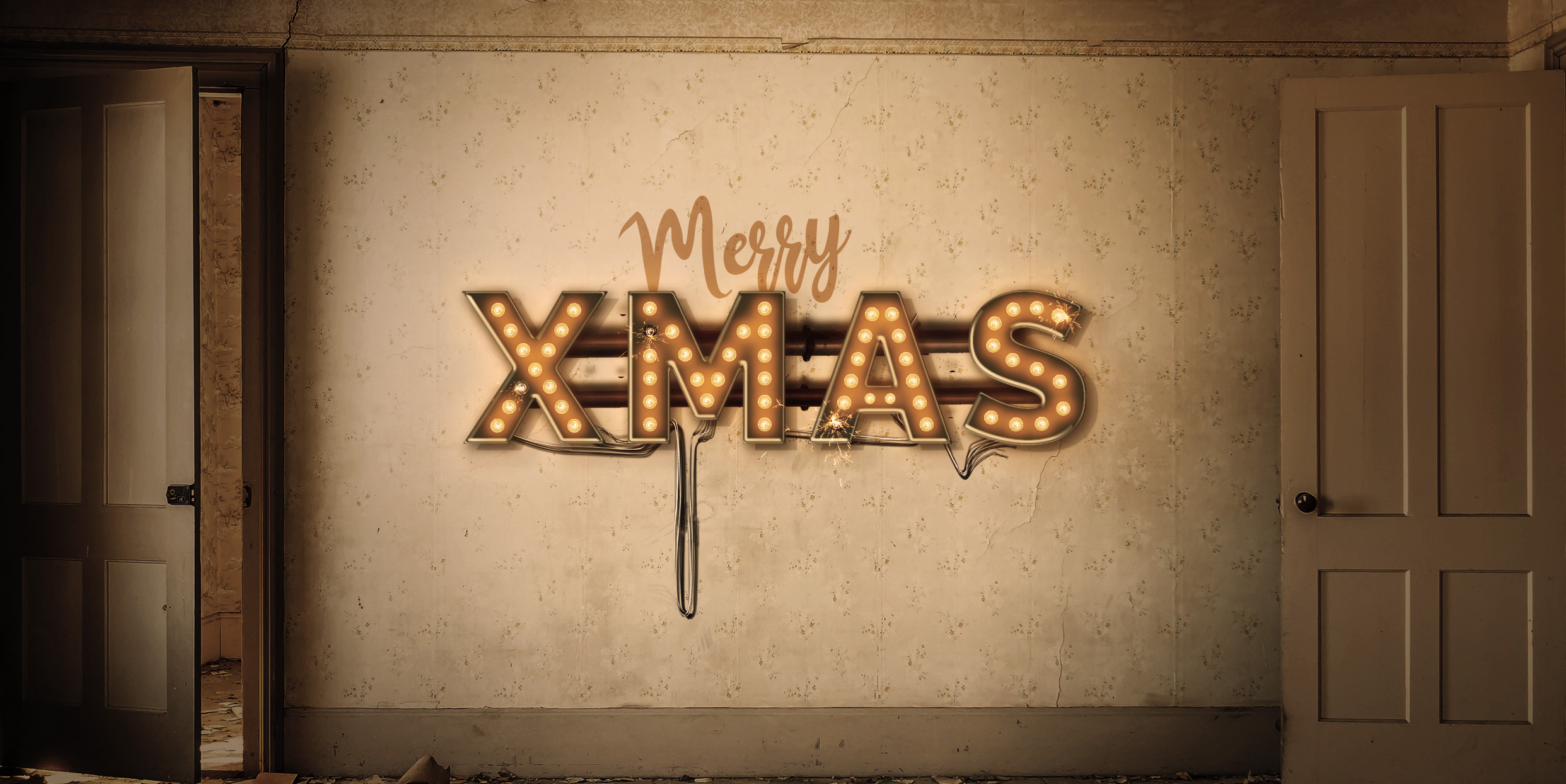 Lightbulb Merry Christmas Signs | 14-Image Bundle example image 6