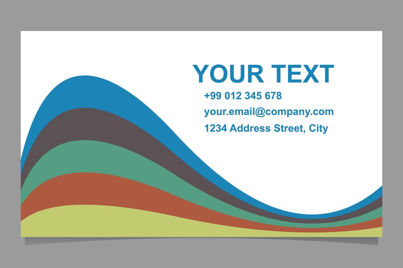 5x2 wavy business card templates (EPS, AI, JPG 5000x5000) example image 2