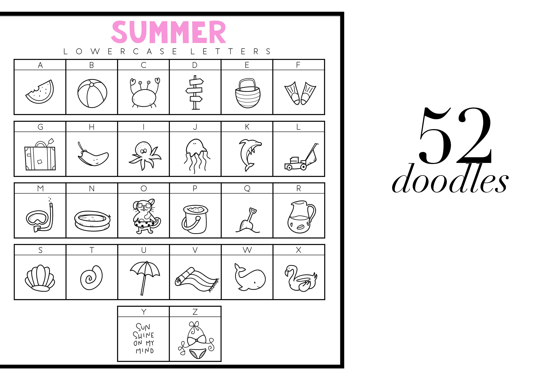 Summer Break / Summer Doodle Font  example image 3