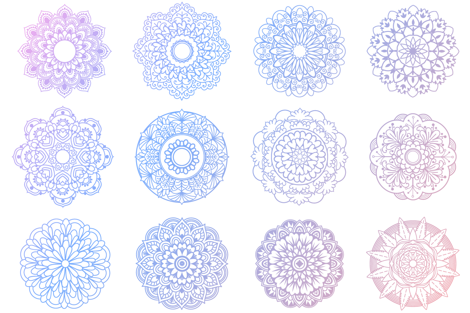 Mandala SVG Files Bundle - 40 Cut Files example image 3