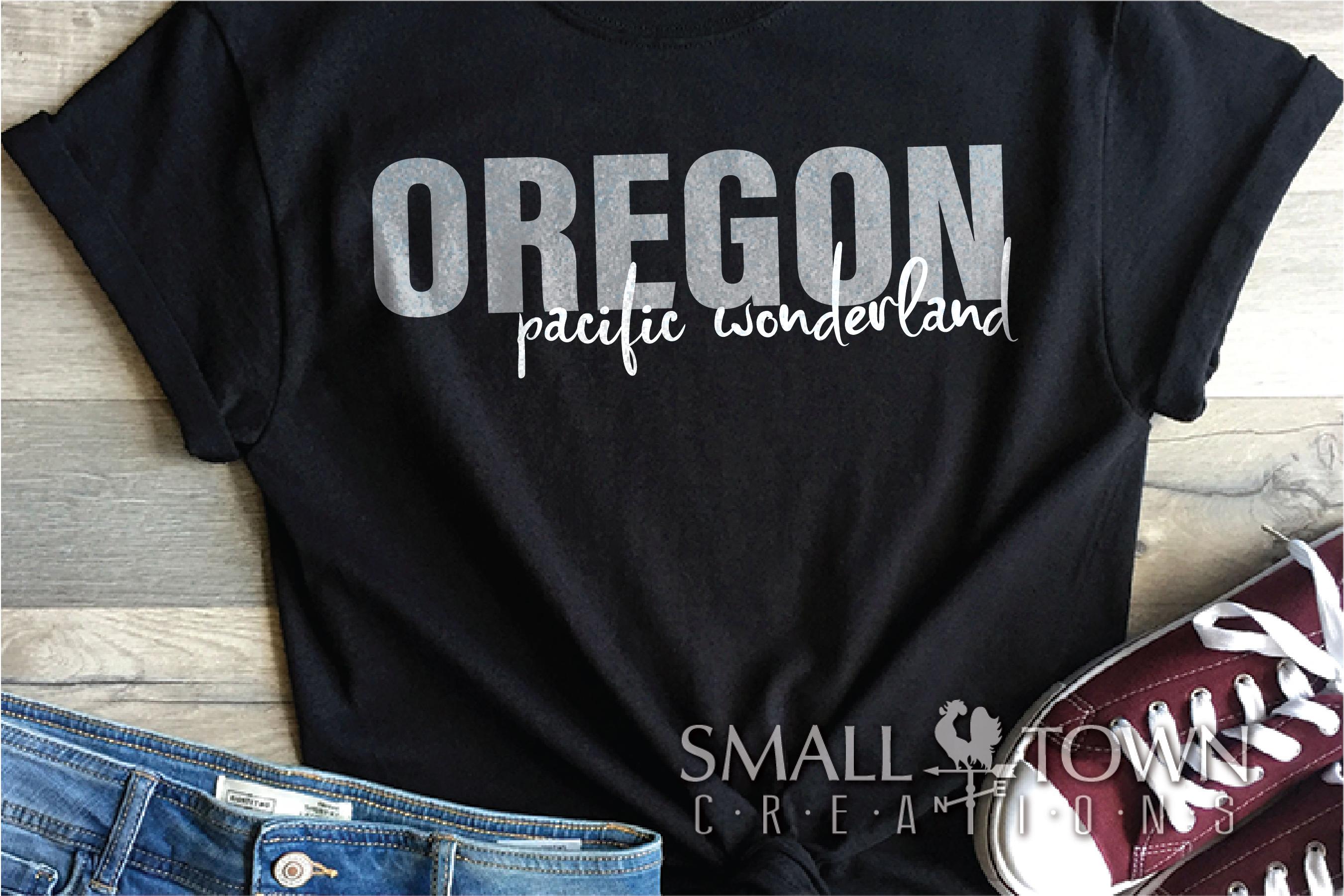 Oregon, Pacific Wonderland - slogan, PRINT, CUT & DESIGN example image 4