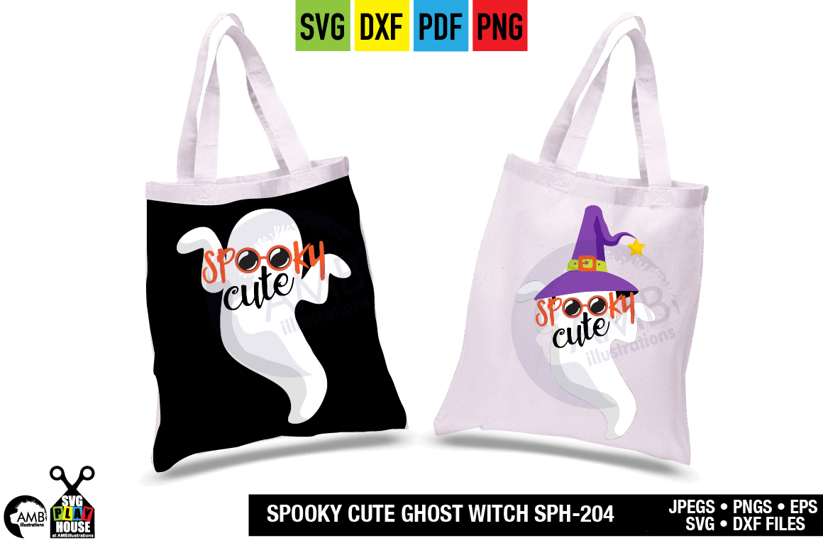 SPOOKY CUTE GHOST SVG SPH-204 example image 2