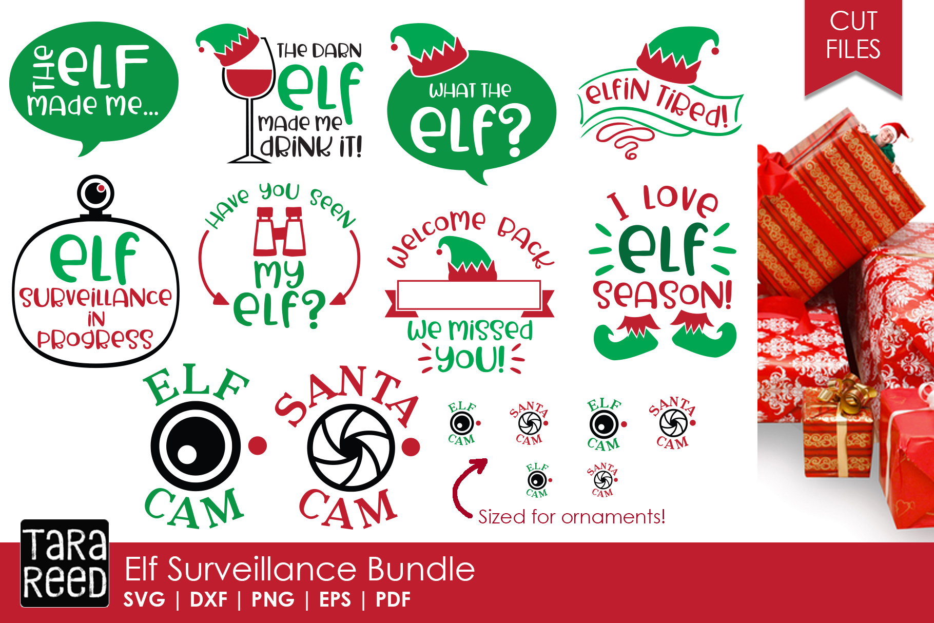 Kids Christmas MEGA Bundle - SVG and Cut Files for Crafters example image 3