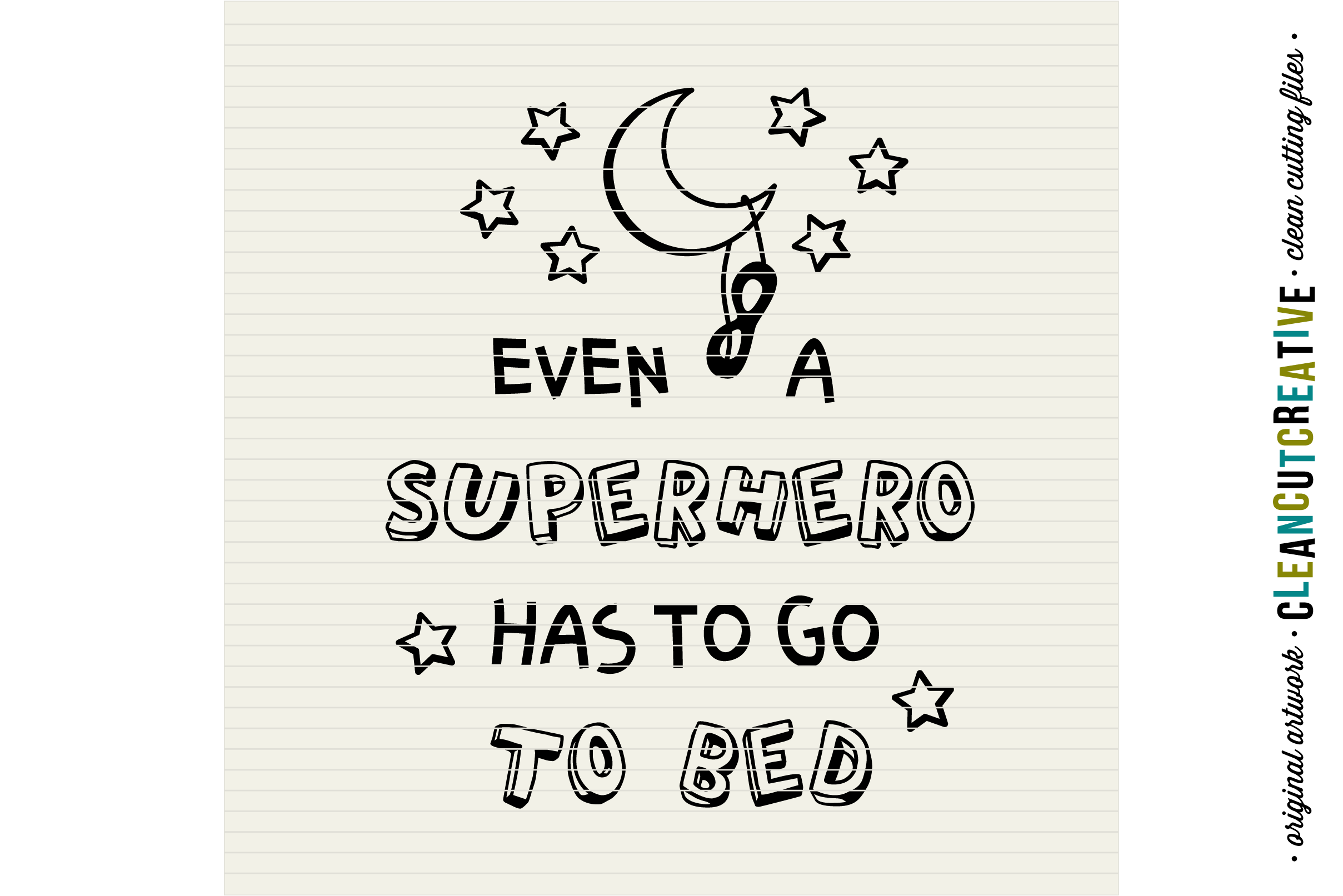 Funny Boys Superhero Bedtime Quote - SVG DXF EPS PNG example image 3