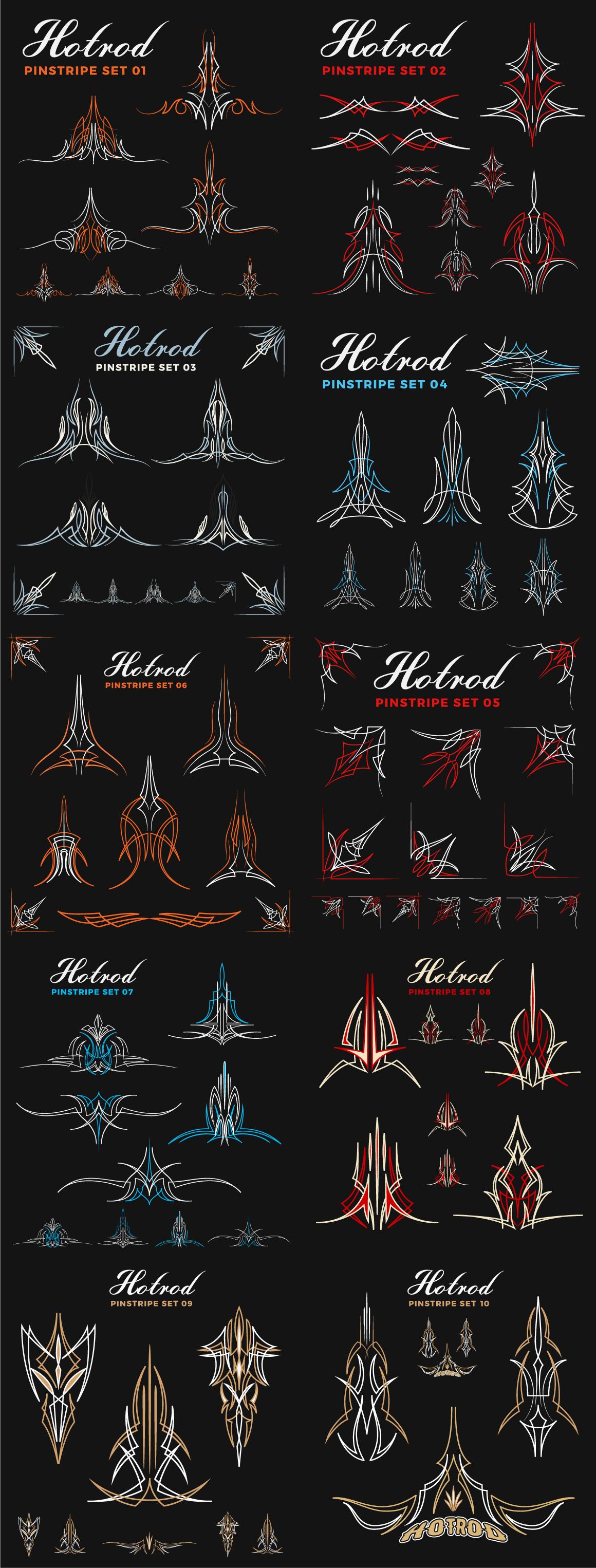Hotrod Pinstripe Decoration & Design Elements example image 3