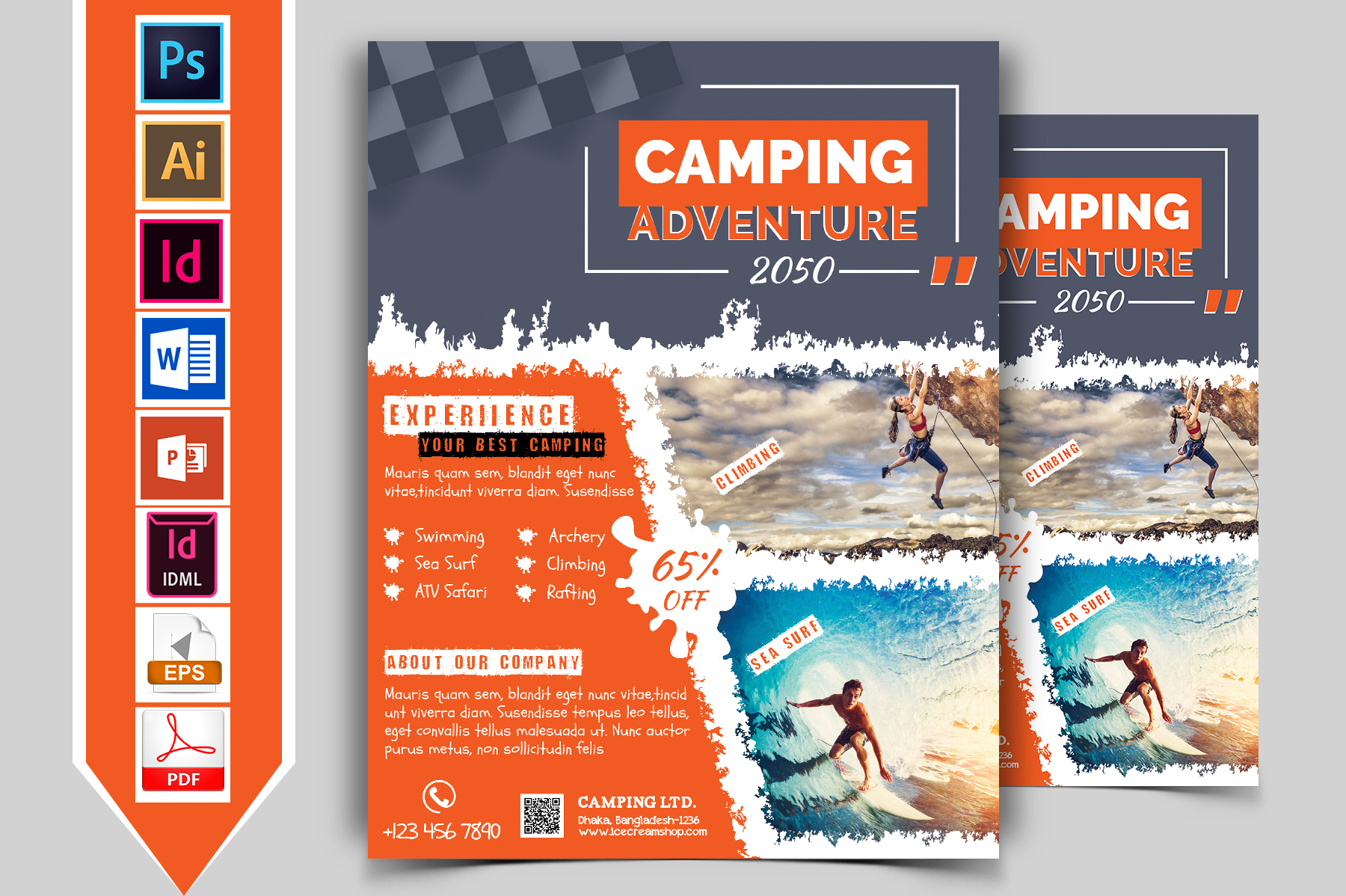Camping Adventure Flyer Vol-01 example image 1