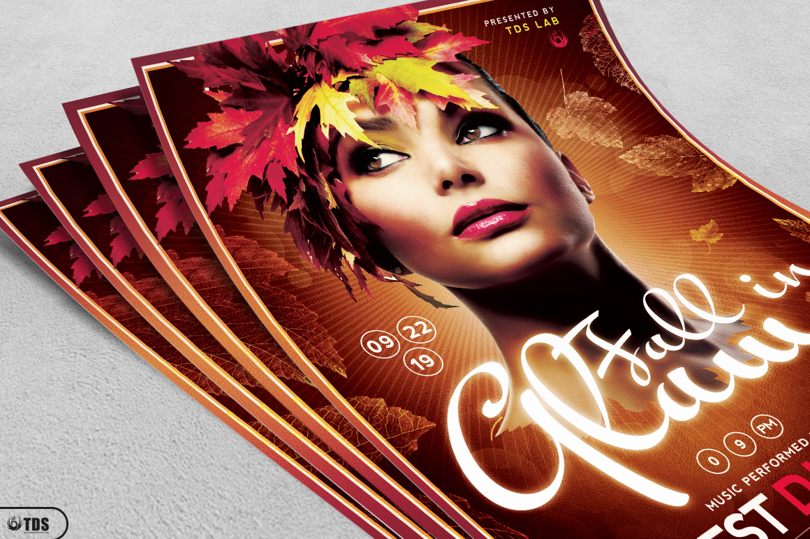 Fall in Glam Flyer Template V5 example image 5